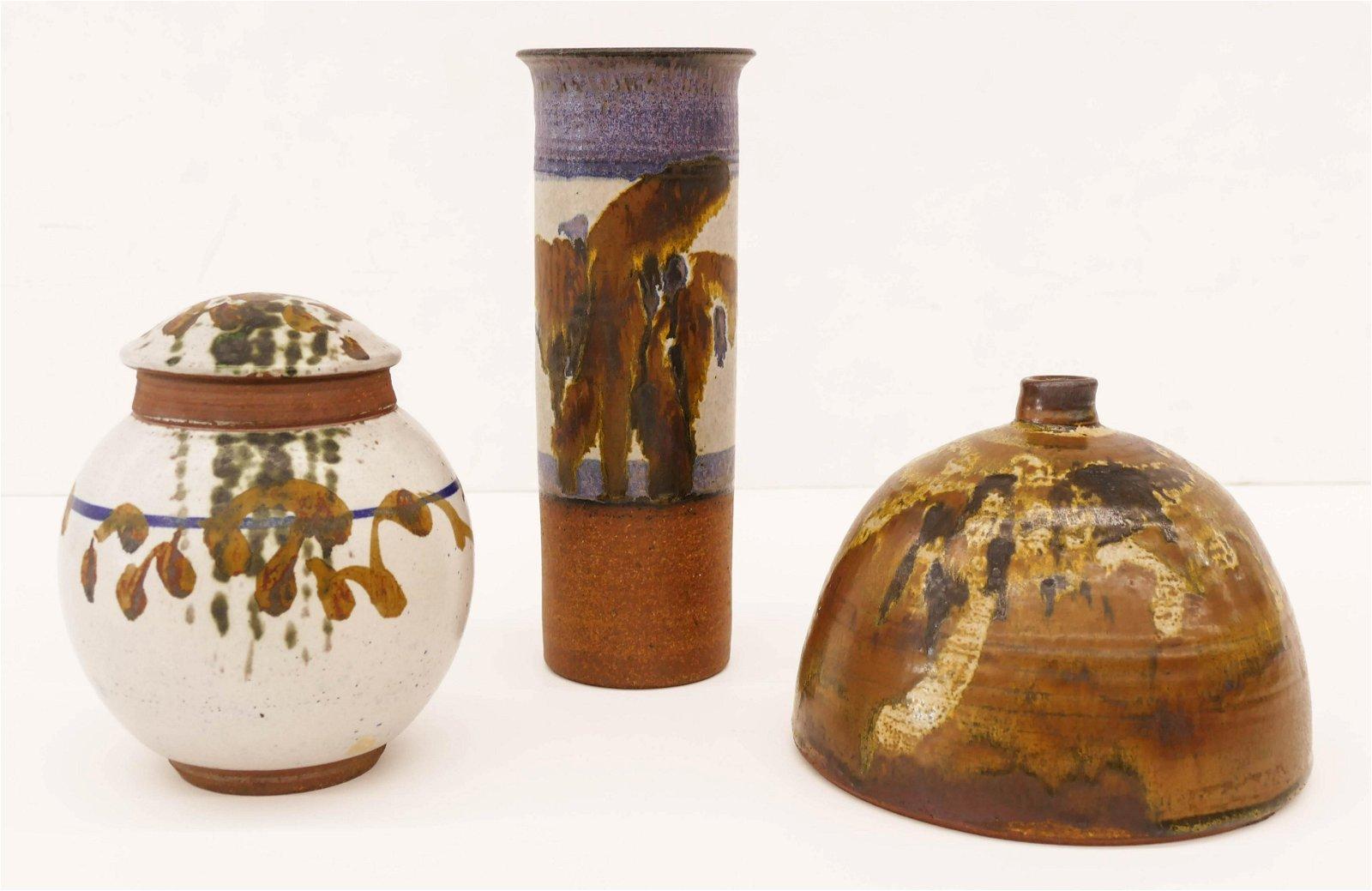 3pc Robert Sperry (1927-1998 Washington) Trio of Vases