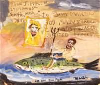 James Martin (b.1928 Washington) ''Joe Reno on Big