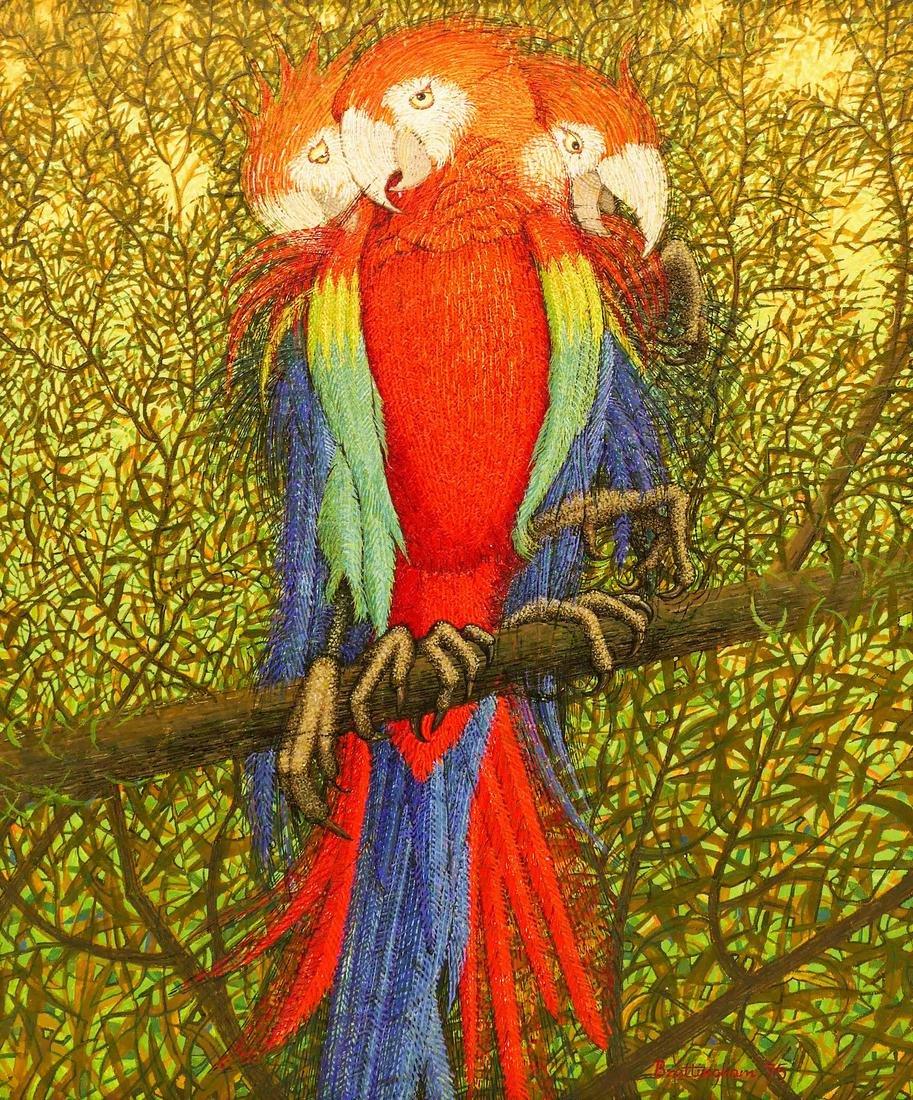 Walter Brettingham (b.1924 British) Futurist Parrot