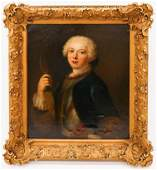 French School 18th Cent Young Dauphin Returning from