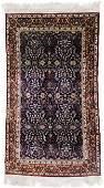 Fine Persian Style Silk Oriental Rug 6'2''x3'. Persian