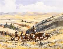 Robert Thomas (1927-2004 Idaho) ''Up from the Canyon''