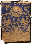 Chinese Imperial Dragon Robe Fragment Panel