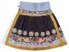 Chinese Imperial Dragon Kesi Silk Court Skirt