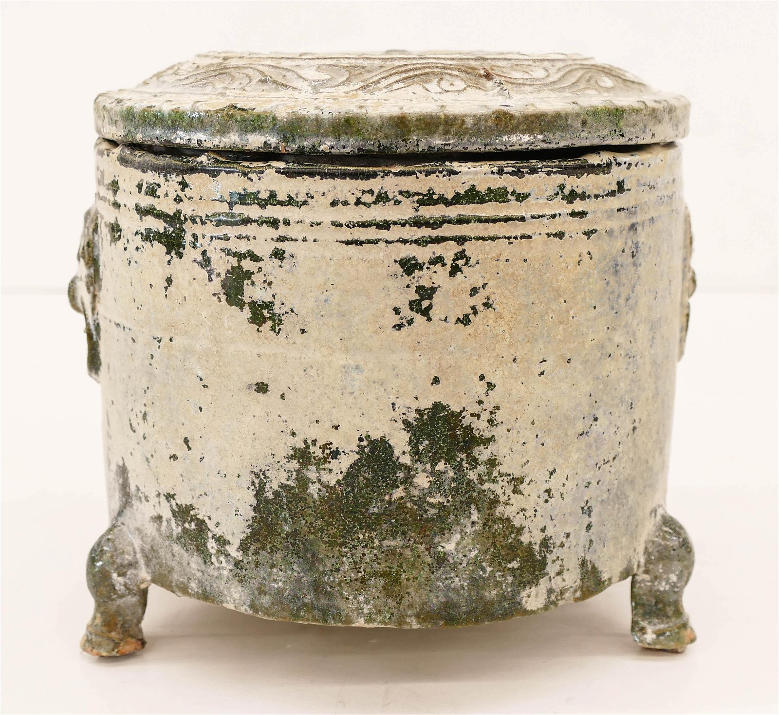 Chinese Han Dynasty Green Ceramic Storage Jar