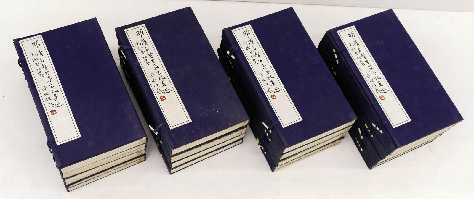 16pc Chinese Book Sets on Calligraphy Scroll Paintings