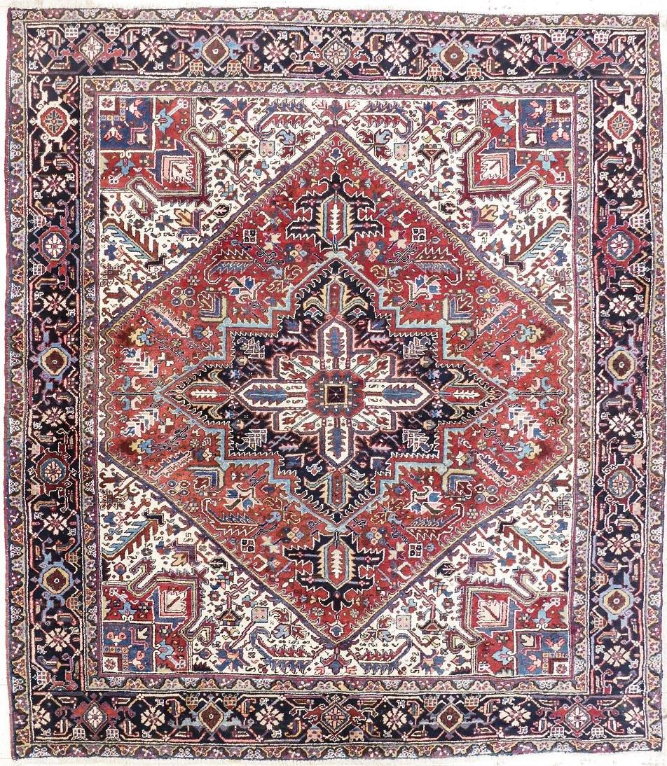 Semi Antique Heriz Persian Oriental Rug 9'x10'. A