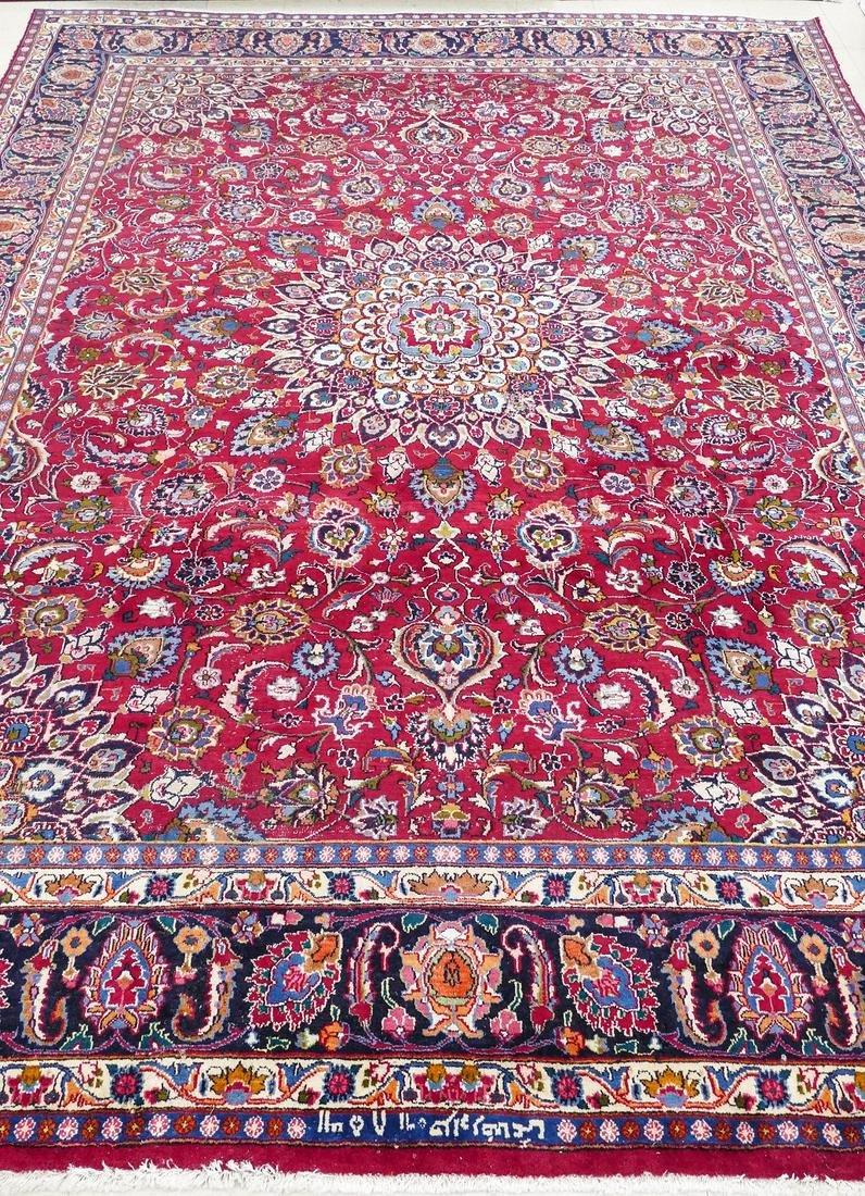 Semi Antique Mashad Persian Oriental Rug 13