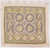 Large Burmese Kalaga Embroidered Tapestry 61x62