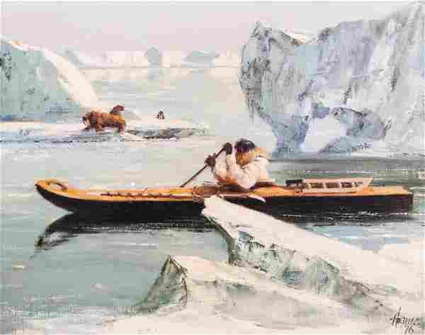 Ellen Henne Goodale (1915-1991 Alaska) Eskimo Seal