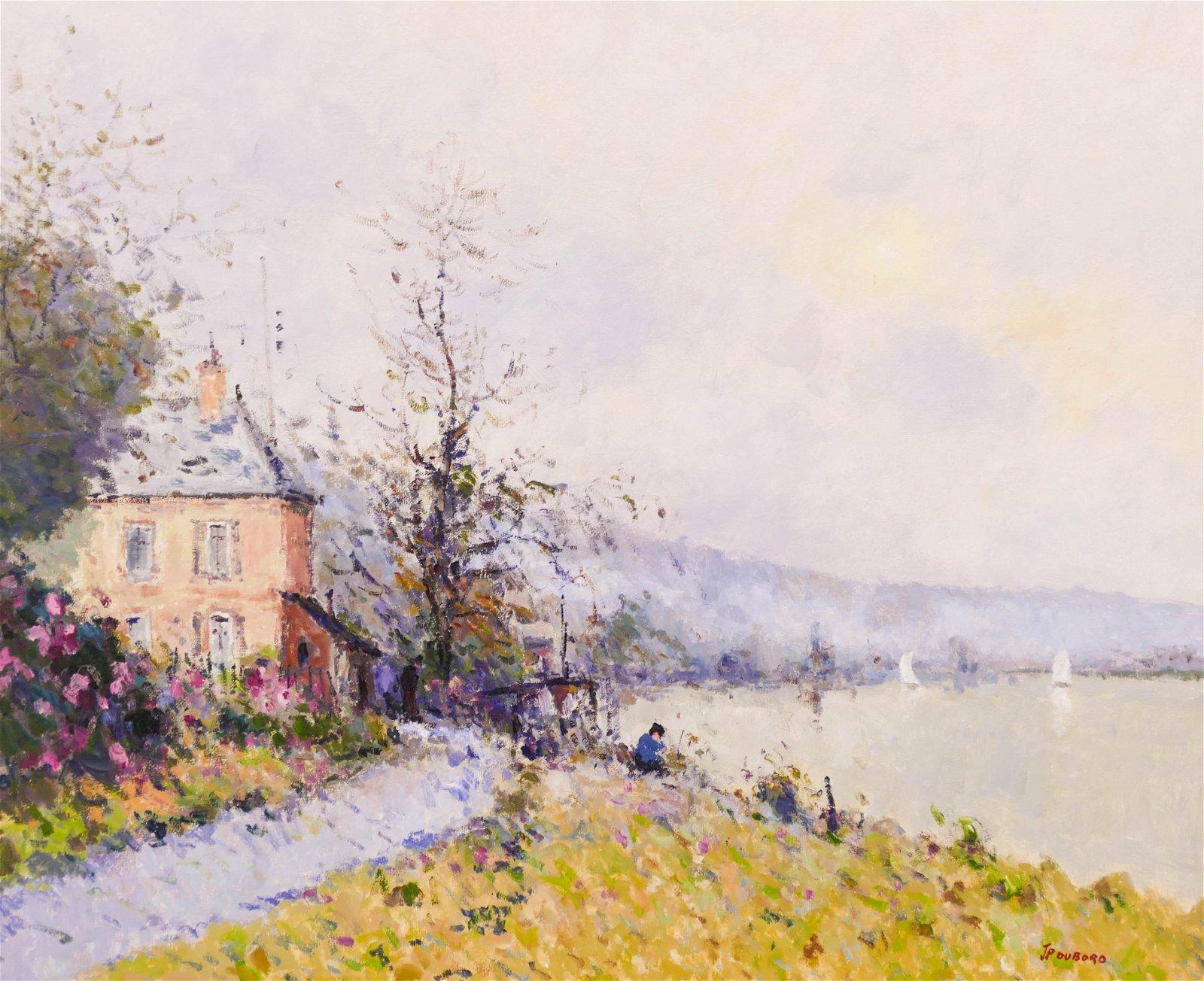 Jean Pierre Dubord (b.1949 French) ''Bord de Seine a