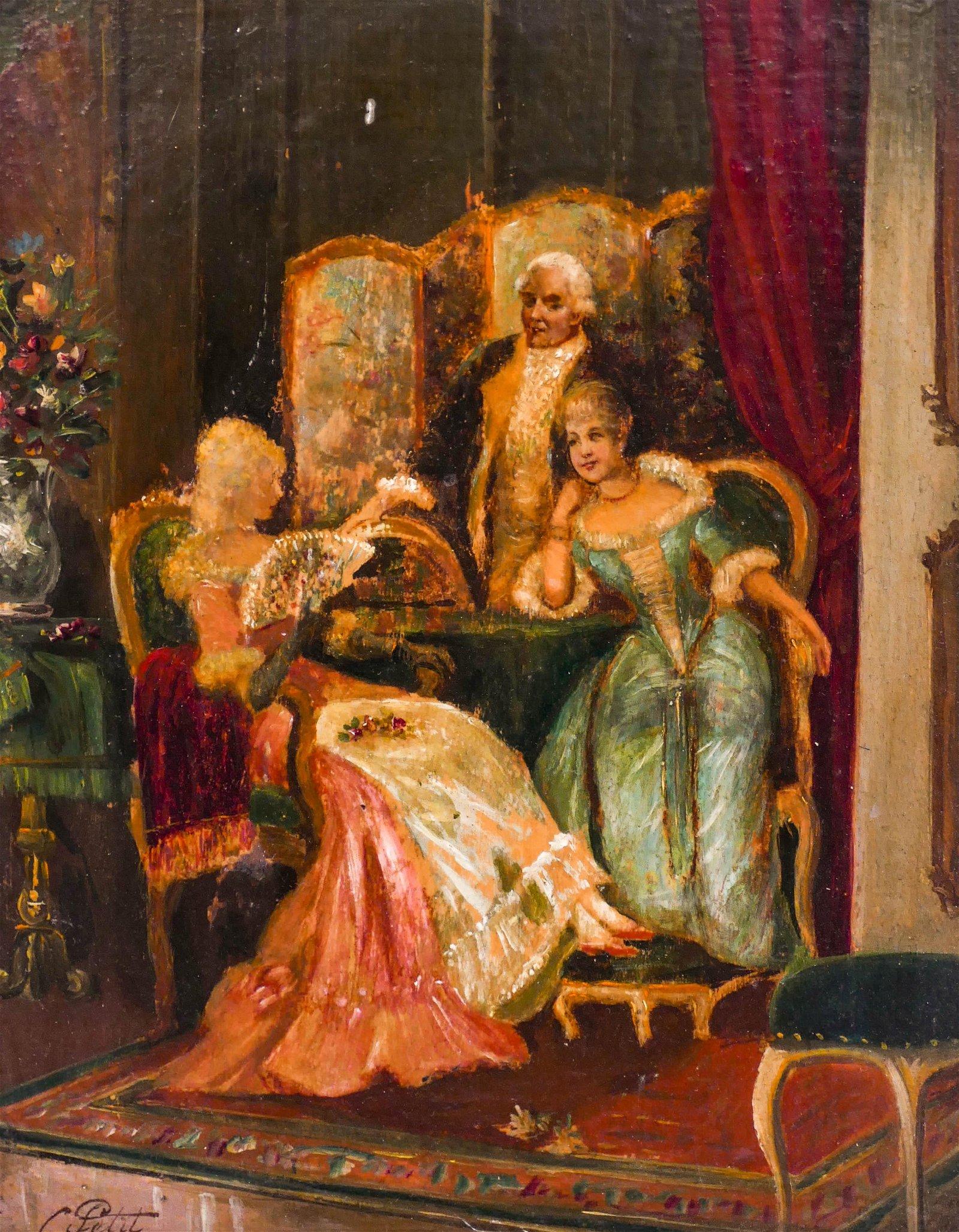 Charles Petit (1863-1949 French) ''En Petit Comite''