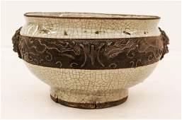 Chinese 19th Cent. Crackle Glaze Porcelain Censer