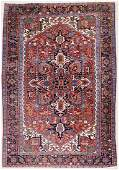 Antique Heriz Medallion Oriental Rug 710x11 Red