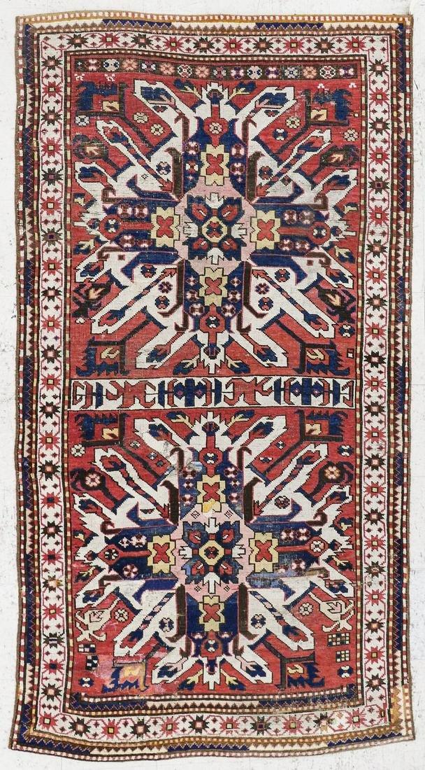 Antique Eagle Kazak Caucasian Oriental Rug
