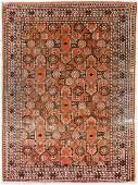 Semi Antique Caucasian Orange Oriental Rug