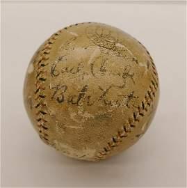 Babe Ruth 1929 Yankees Team Signed Baseball