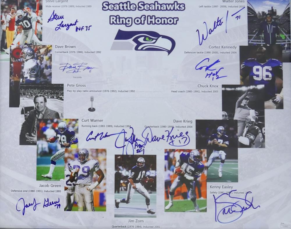 Seahawks Ring of Honor Signed Poster