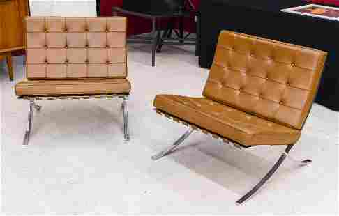 Pair Mies Van Der Rohe for Knoll ''Barcelona'' Chairs