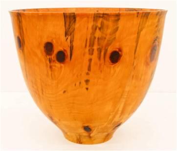 Large Wayne Omura Hawaiian Norfolk Pine Vessel