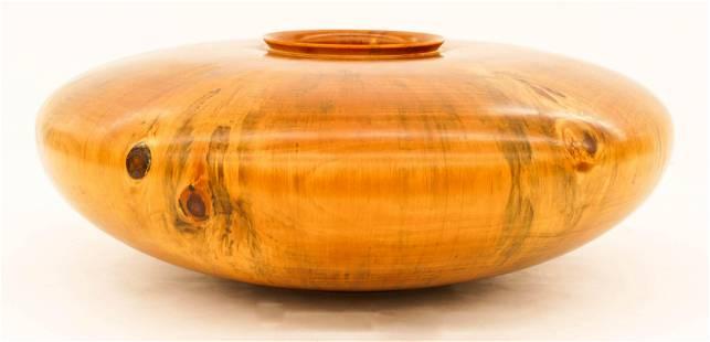 Large Victor Holmes Hawaiian Norfolk Pine Squat Vase