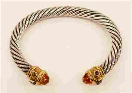 David Yurman 14k Sterling Renaissance Cable Bracelet