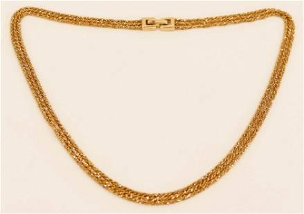 Yuri Ichihashi 14k Triple Strand Gold Necklace 18''. It