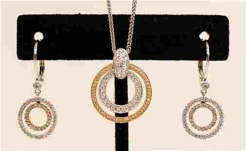 Simon G. 18k Diamond Double Circle Pendant Necklace