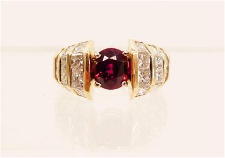 Ladys 208ct Ruby Diamond 14k Ring Size 8 Includes a