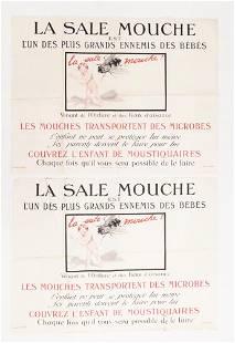 2pc WWI era French Bureau des Enfants La Sale Mouche