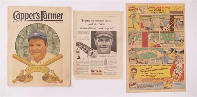 3pc Vintage Baseball Collectibles