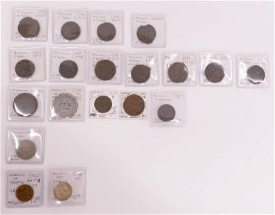 26pc Collection of North African Coins Morocco