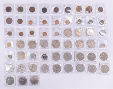 57pc Collection Great Britain Coins from 18541981