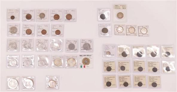 43pc Collection Italian Coins Italy Vatican Venice