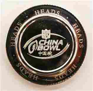 Tiffany Co NFL China Bowl Sterling Football Coin T