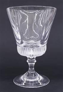 Lalique Crystal Pedestal Vase or Compote 7.75''x5''.
