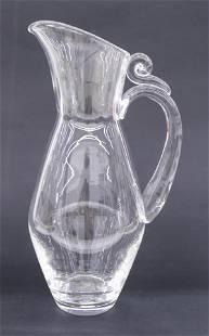 Steuben Crystal Water Pitcher 12''. Spiral snail