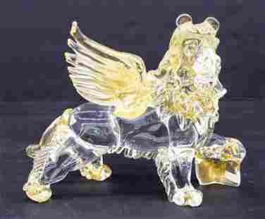 Horchow ''Lion of Saint Mark'' Venetian Glass Figure