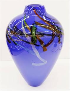 Eric Brakken Glasshouse Studio 1994 Glass Vase