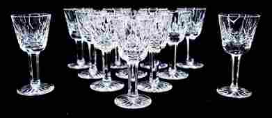 12pc Waterford Lismore Crystal Small Liqueur