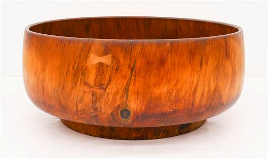 Monumental Takeo Omura Norfolk Pine Low Bowl with