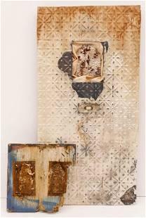 2pc Lynn Basa b1954 American Assemblage Artworks