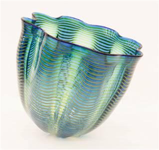 Dale Chihuly (b.1941 Washington) Teal Blue Seaform 1997