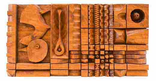 Leroy Setziol (1915-2005 Oregon) ''Grid #87'' Canary