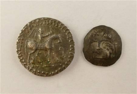 2pc Ancient Scythian Silver Coins