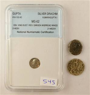 3pc Ancient Indian Silver Coins