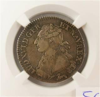 France 1786R Louis XVI Silver 24 Sols NGC VF25