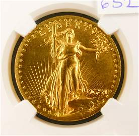 1907 St Gaudens High Relief $20 Gold Coin NGC PF66