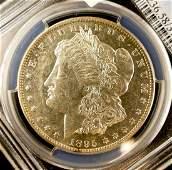 US 1895-O Silver $1 Morgan Dollar PCGS AU58