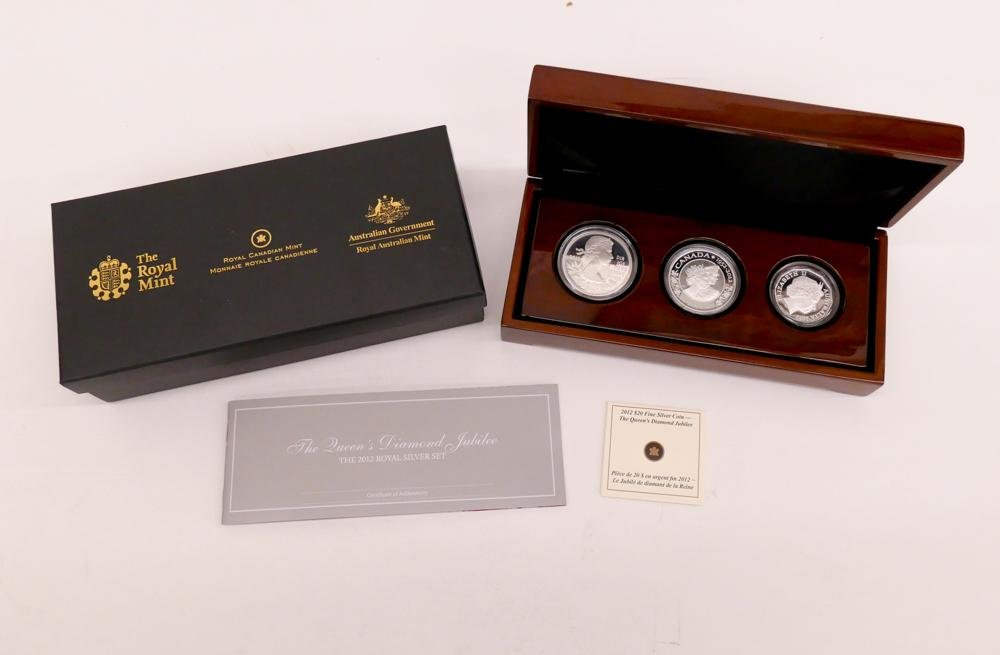 3pc Royal Canadian Mint .999 Silver Proof Set